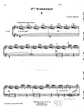 2ème Arabesque: piano seul : edition originale