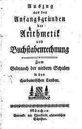Auszug aus den Anfangsgründen der Arithmetik und Buchstabenrechnung