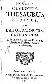 Insulae Ceyloniae Thesaurus medicus