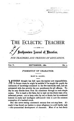 The Eclectic Teacher and Southwestern Journal of Education PDF