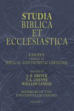 Studia Biblica et Ecclesiastica, 5 Volumes