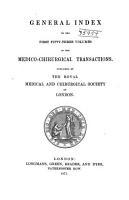 Medico chirurgical Transactions  Index PDF