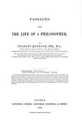 Passages from the Life of a Philosopher