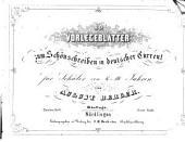 Vorlegeblätter zum Schönschreiben in deutscher Current: Erste Stufe, Band 2