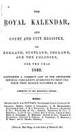 The Royal Kalendar  and Court and City Register for England  Scotland  Ireland  and the Colonies PDF