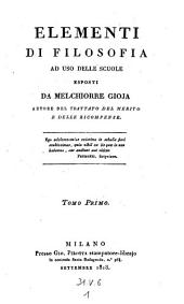 Elementi di filosofia ad uso delle scuole (etc.)