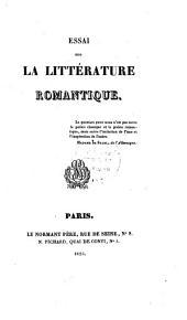 Essai sur la littérature romantique
