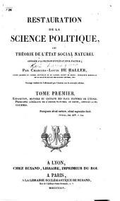Restauration de la science politique: Volume1