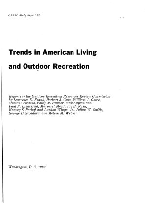 Trends in American Living and Outdoor Recreation PDF