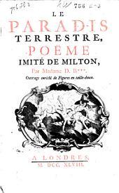 Le Paradis terrestre: Poeme imité de Milton