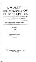 A World Bibliography of Bibliographies and of Bibliographical Catalogues  Calendars  Abstracts  Digests  Indexes  and the Like PDF