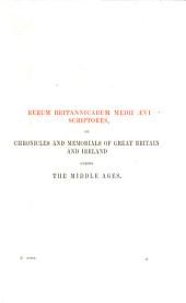 The Story of England by Robert Manning of Brunne, A.D. 1338: Volume 1
