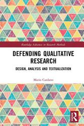 Defending Qualitative Research Book PDF