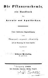 Die Pflanzenchemie: ein Handbuch für Ärzte und Apotheker
