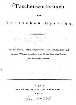 Taschenw  rterbuch der deutschen Sprache PDF