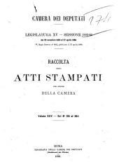Raccolta degli atti stampati per ordine della Camera legislatura 15: Dal n. 351 al 364, Edizione 351