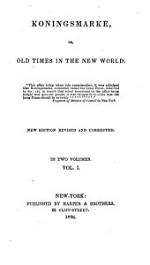 Paulding's Works: Koningsmarke, or Old times in the New world