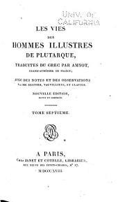Oeuvres de Plutarque: Les vies des hommes illustres
