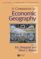 A Companion to Economic Geography PDF