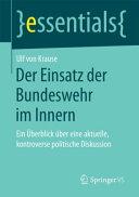 Der Einsatz der Bundeswehr im Innern PDF