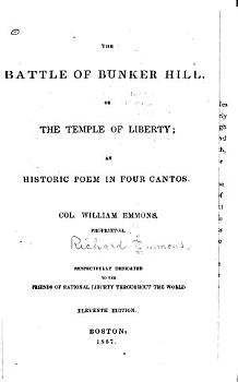 The Battle of Bunker Hill  Or  The Temple of Liberty PDF