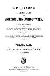 Lehrbuch der griechischen Privatalterthümer: Band 4