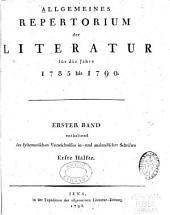 Allgemeines repertorium der literatur: Band 1