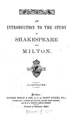 An Introduction to the Study of Shakespeare and Milton PDF