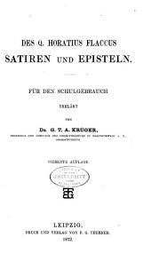Sämmtliche Werke für den Schulgebrauch erklärt: T. Satiren und Episteln. 7. Aufl