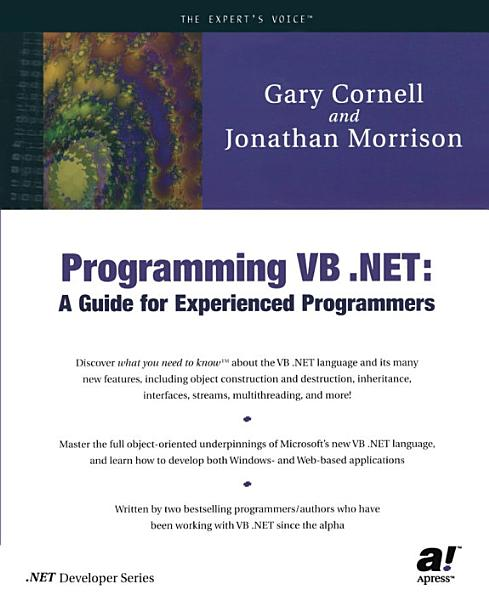 Programming VB  NET PDF