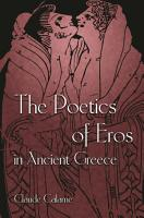 The Poetics of Eros in Ancient Greece PDF