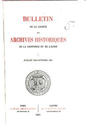 Revue de Saintonge & d'Aunis: Volume5