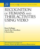 Recognition of Humans and Their Activities Using Video PDF