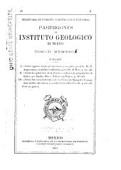 Parergones del Instituto Geológico de México: Volumen 2