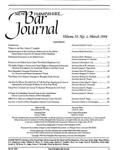 New Hampshire Bar Journal PDF