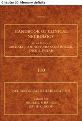 Neurological Rehabilitation: Chapter 30. Memory deficits