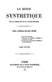 La Revue synthétique: Volume2