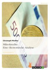 Mikrokredite: Eine ökonomische Analyse