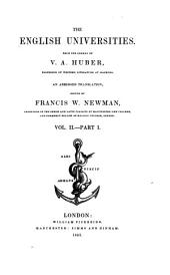 The English Universities: Volume 2, Part 1