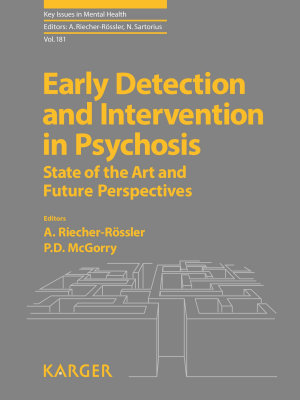 Early Detection and Intervention in Psychosis PDF