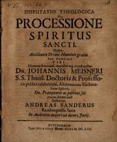 Disp. theol. de processione Spiritus Sancti