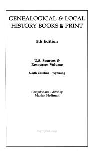 Genealogical   Local History Books in Print PDF