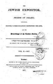 The Jewish Expositor, and Friend of Israel