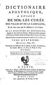 Dictionnaire apostollique à l'usage de MM. les curés des villes et de la campagne...