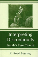 Interpreting Discontinuity: Isaiah's Tyre Oracle