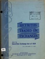 Securities Traded on Exchanges Under the Securities Exchange Act as of PDF