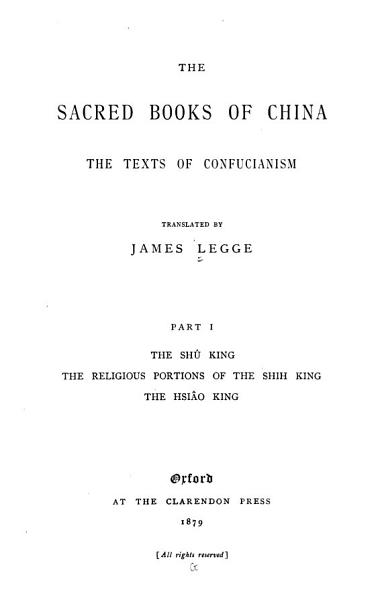 Download The Sacred Books of China Book