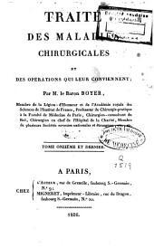 Traité des maladies chirurgicales et des opérations qui leur conviennent: Volume11