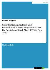 """Geschlechterkonstruktion und Interkulturalität in der Gegenwartskunst: Die Ausstellung """"Black Male"""" 1994 in New York"""