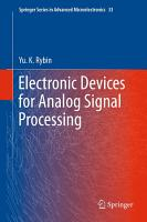 Electronic Devices for Analog Signal Processing PDF